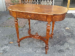 Antique Napoleon III  Table desk inlaid - 19th-3