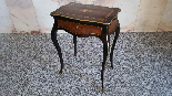Antique Napoleon III small Table Bedside inlaid-19th century-2
