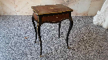 Antique Napoleon III small Table Bedside inlaid-19th century-1
