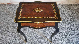 Antique Napoleon III small Table Bedside inlaid-19th century-13