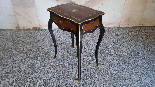 Antique Napoleon III small Table Bedside inlaid-19th century-4