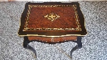 Antique Napoleon III small Table Bedside inlaid-19th century-14