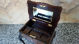 Antique Napoleon III small Table Bedside inlaid-19th century-9