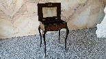 Antique Napoleon III small Table Bedside inlaid-19th century-7