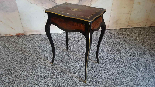 Antique Napoleon III small Table Bedside inlaid-19th century-6