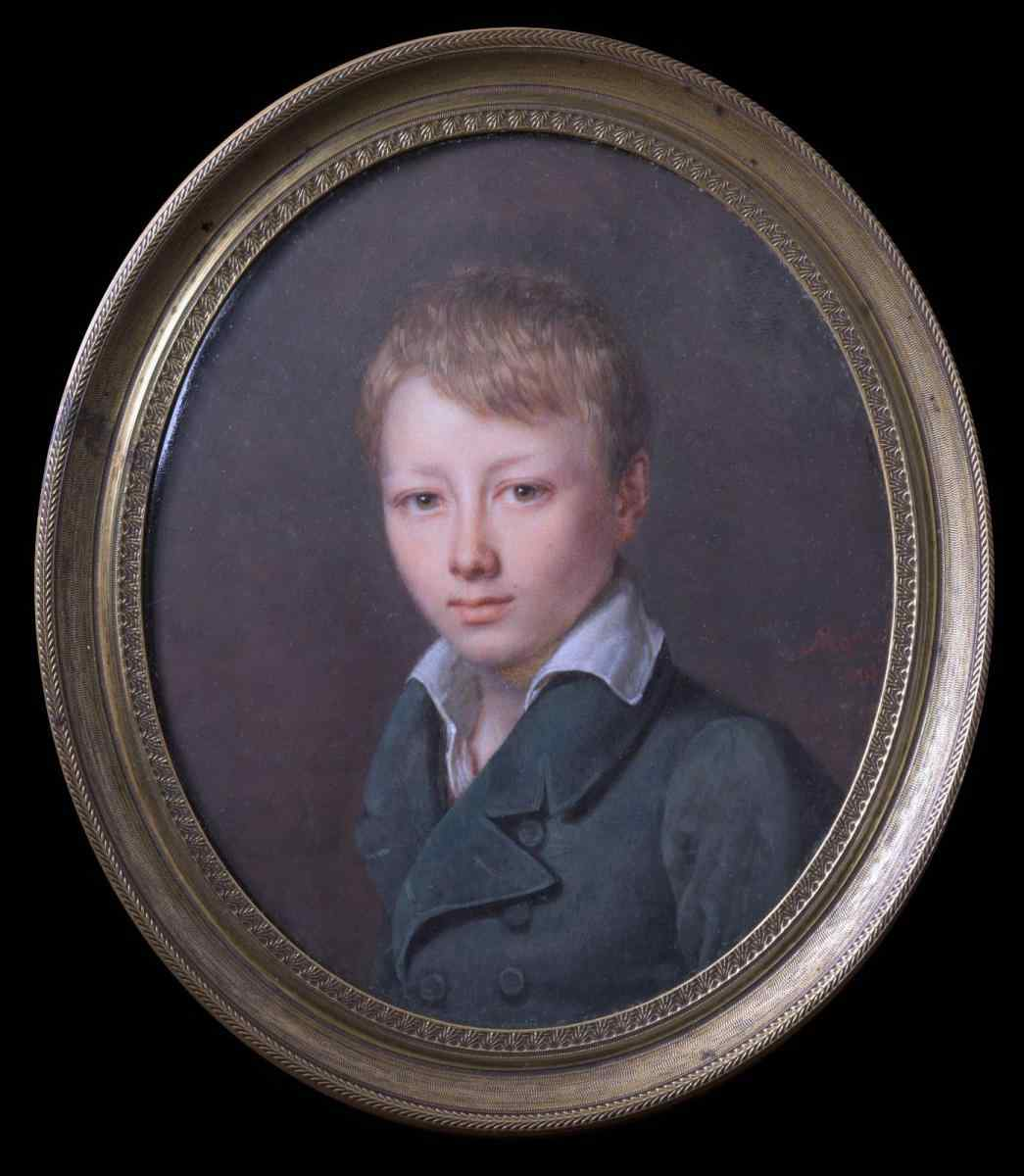 Jeanne Maricot, Portrait of a Boy, miniature
