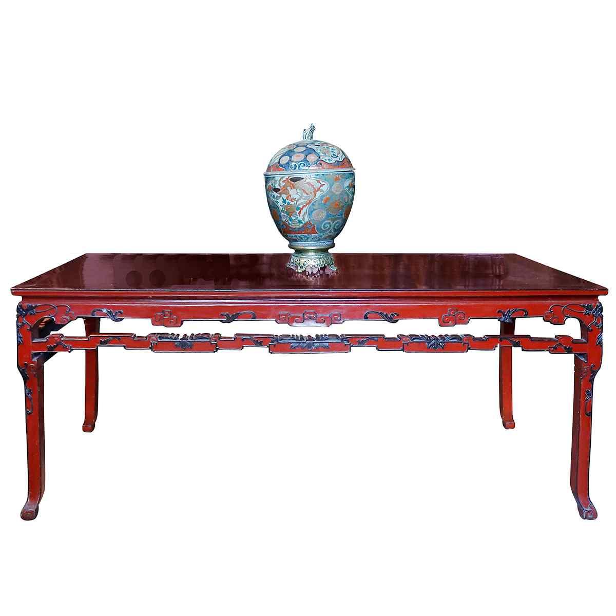 Таблица в красном китайском лате Бордо c.1920