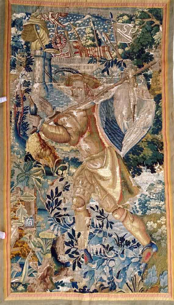 The Return Of The Hunter Tapestry Brussels 17th Century