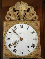 Antico Orologio a Pendolo Impero in noce - XIX secolo-6