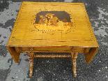 Antico Tavolino intarsiato - Italia XIX secolo-1