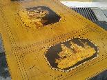 Antico Tavolino intarsiato - Italia XIX secolo-10