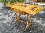Antico Tavolino intarsiato - Italia XIX secolo-3