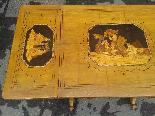 Antico Tavolino intarsiato - Italia XIX secolo-7