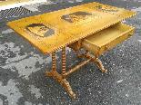 Antico Tavolino intarsiato - Italia XIX secolo-5
