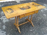 Antico Tavolino intarsiato - Italia XIX secolo-13