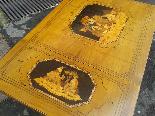 Antico Tavolino intarsiato - Italia XIX secolo-9