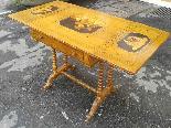 Antico Tavolino intarsiato - Italia XIX secolo-14