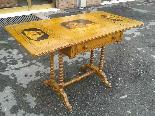 Antico Tavolino intarsiato - Italia XIX secolo-2