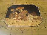 Antico Tavolino intarsiato - Italia XIX secolo-6