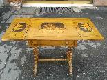 Antico Tavolino intarsiato - Italia XIX secolo-4