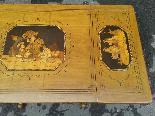 Antico Tavolino intarsiato - Italia XIX secolo-8
