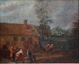 XVII, Scuola Fiamminga, Coppia di dipinti, Scene animate-2