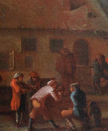 XVII, Scuola Fiamminga, Coppia di dipinti, Scene animate-5
