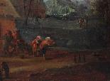 XVII, Scuola Fiamminga, Coppia di dipinti, Scene animate-4