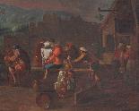 XVII, Scuola Fiamminga, Coppia di dipinti, Scene animate-6