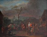 XVII, Scuola Fiamminga, Coppia di dipinti, Scene animate-3