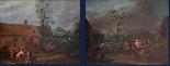 XVII, Scuola Fiamminga, Coppia di dipinti, Scene animate-1