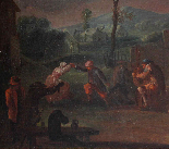 XVII, Scuola Fiamminga, Coppia di dipinti, Scene animate-7