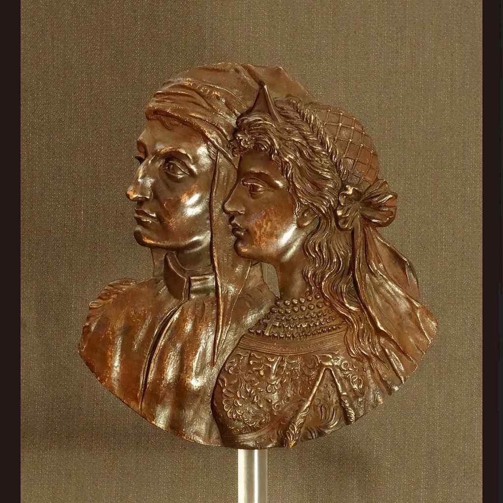 Bassorilievo rinascimentale Vintage Bronze