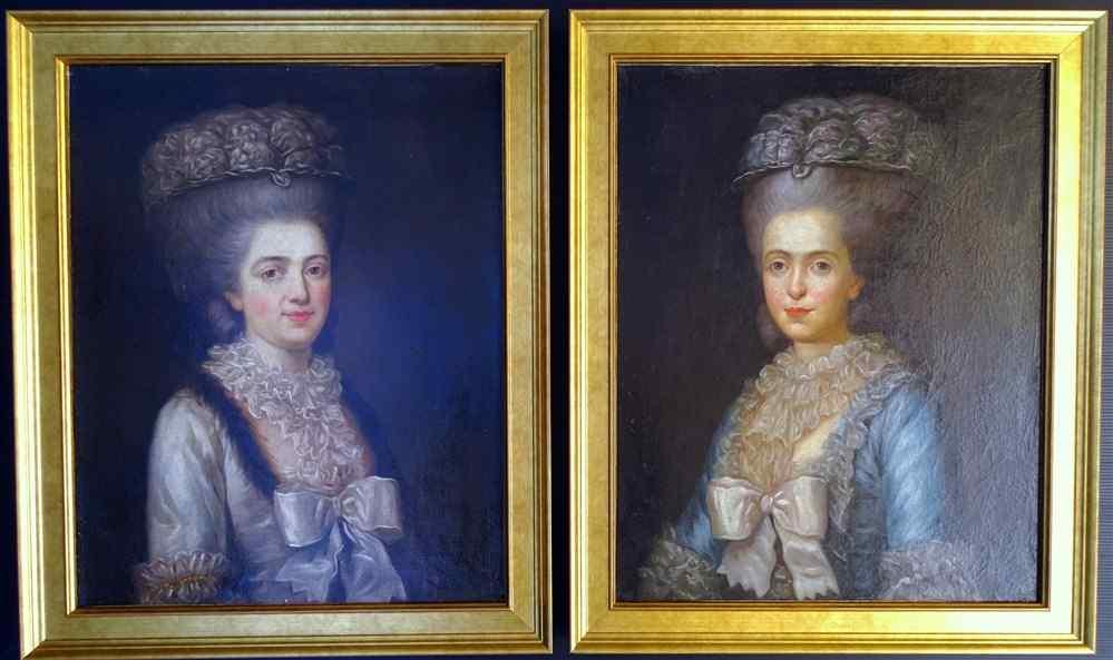 Antoine Vestier Coppia Ritratto di sorelle gemelle, 18 HST