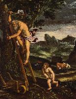 Giovanni Francesco Grimaldi, Paysage avec Adam et Eve-0