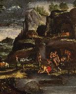 Giovanni Francesco Grimaldi, Landscape with Adam and Eve-1