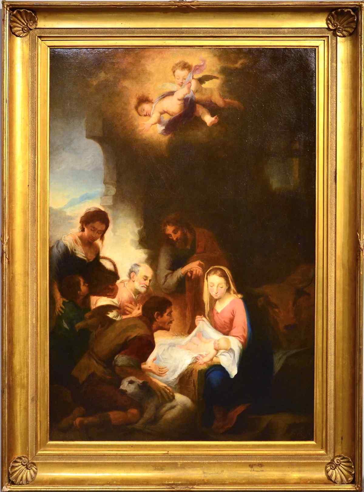 Scuola napoletana, seconda metà del Seicento - La Natività