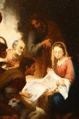 Scuola napoletana, seconda metà del Seicento - La Natività-4