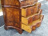 Старое бюро-библиотека в грецком орехе - Италия 19-го века-17
