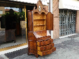 Antique Bookcase Bureau in walnut - Italy 19th century-6