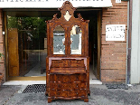 Antique Bookcase Bureau in walnut - Italy 19th century-1