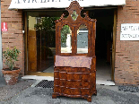 Antique Bookcase Bureau in walnut - Italy 19th century-4