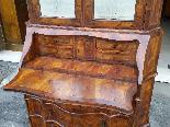 Старое бюро-библиотека в грецком орехе - Италия 19-го века-14