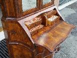 Старое бюро-библиотека в грецком орехе - Италия 19-го века-13