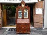 Старое бюро-библиотека в грецком орехе - Италия 19-го века-3