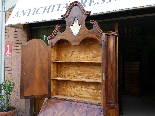 Antique Bookcase Bureau in walnut - Italy 19th century-12
