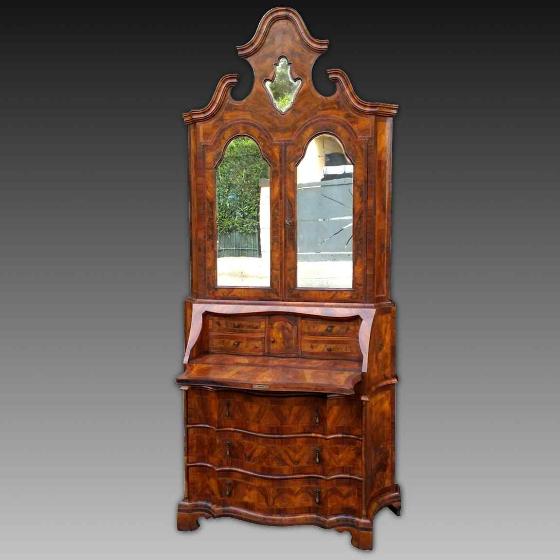 Antique Bookcase Bureau in walnut - Italy 19th century