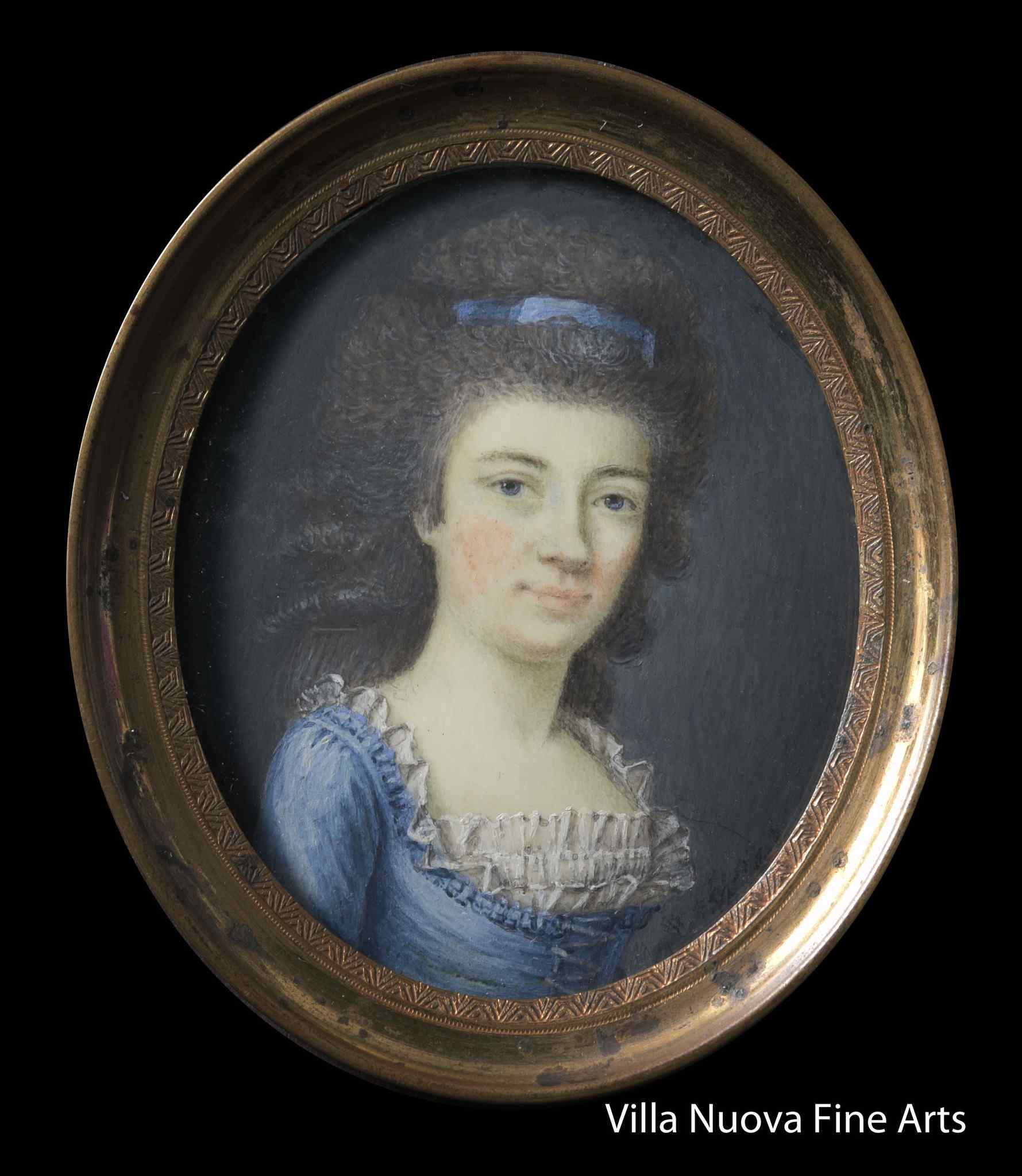 Французская школа, Портрет молодой дамы, миниатюра
