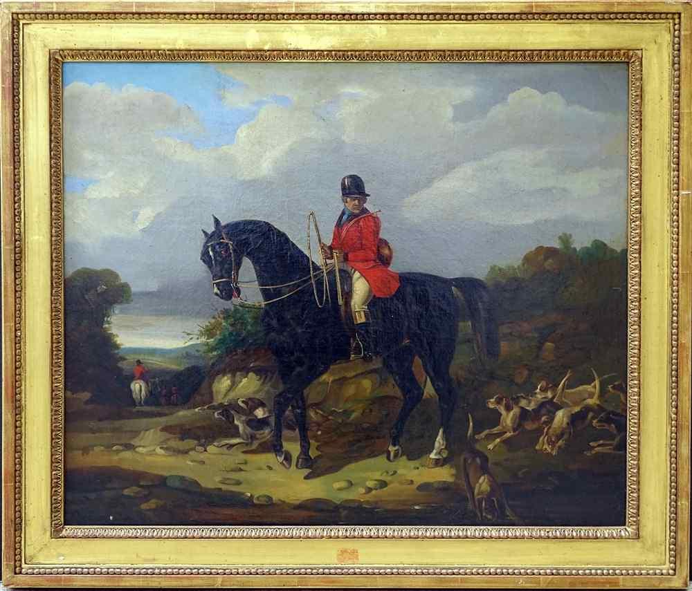 Alfred De Dreux, The Pack Leader On A Black Horse