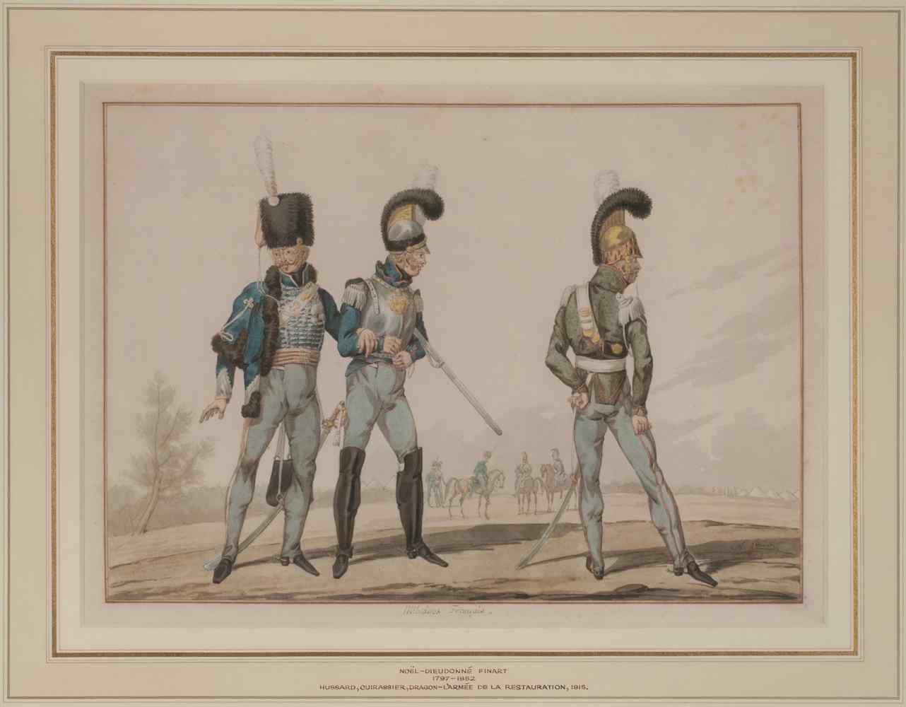 N.-D. Finart, Uniformi di un ussaro, corazzieri e dragoni